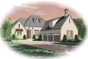 Colonial Style House Plan - 3 Beds 3 Baths 3587 Sq/Ft Plan #81-1596 Exterior - Front Elevation