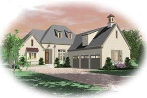 Colonial Exterior - Front Elevation Plan #81-1596