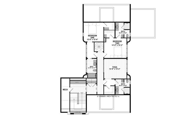 Craftsman Floor Plan - Upper Floor Plan Plan #928-305