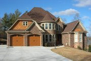 European Style House Plan - 4 Beds 3.5 Baths 3328 Sq/Ft Plan #17-2347 Exterior - Front Elevation