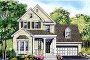 Country Style House Plan - 3 Beds 2.5 Baths 2602 Sq/Ft Plan #456-32 Exterior - Front Elevation