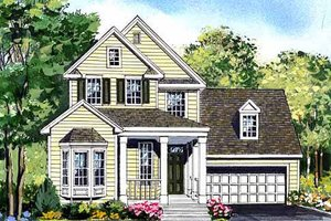 Country Exterior - Front Elevation Plan #456-32