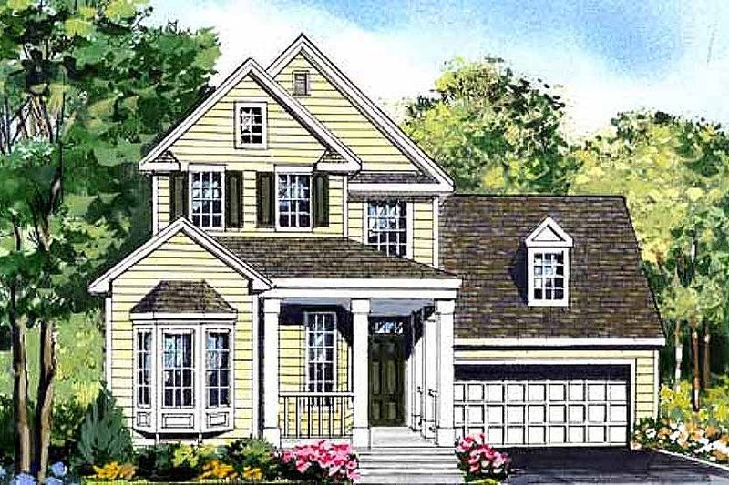 Country Style House Plan - 3 Beds 2.5 Baths 2602 Sq/Ft Plan #456-32