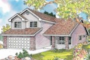 House Plan - 3 Beds 2.5 Baths 1655 Sq/Ft Plan #124-595 Exterior - Front Elevation