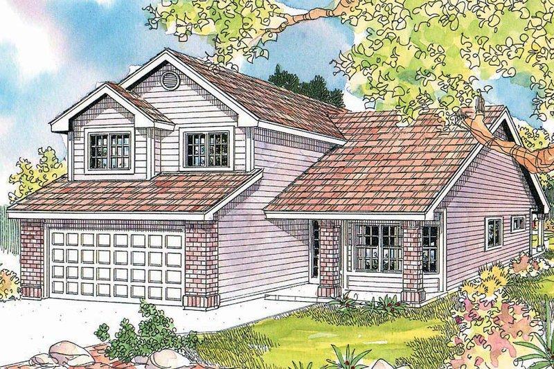 House Plan Design - Exterior - Front Elevation Plan #124-595