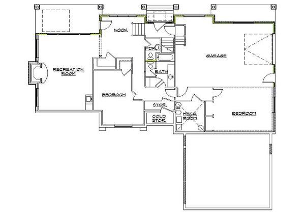 Traditional Floor Plan - Lower Floor Plan Plan #5-264