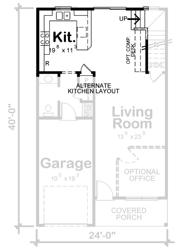 House Plan Design - Traditional Floor Plan - Other Floor Plan #20-2407
