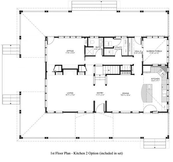 Country Floor Plan - Main Floor Plan #917-12