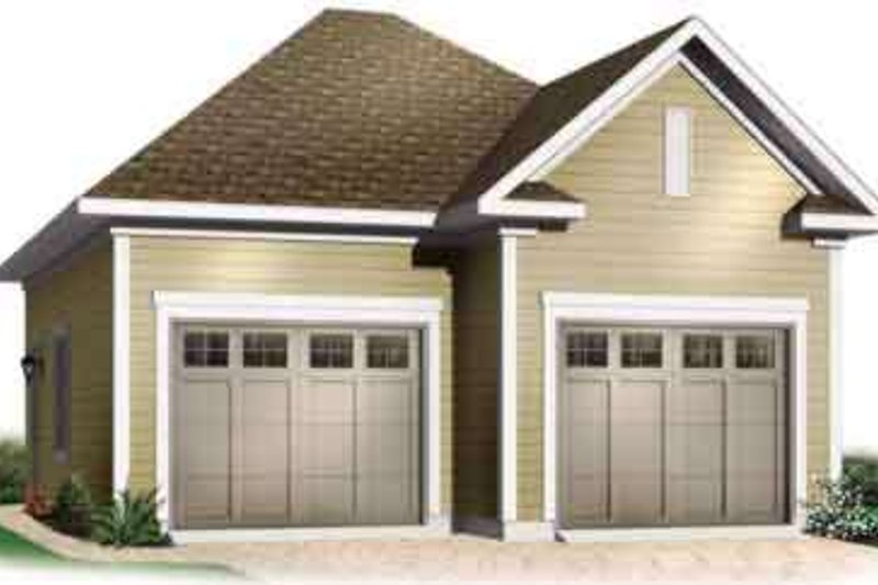 Traditional Exterior - Front Elevation Plan #23-433 - Houseplans.com