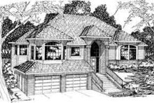 Architectural House Design - Traditional Exterior - Front Elevation Plan #124-290