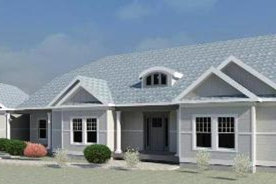 Ranch Exterior - Front Elevation Plan #524-4