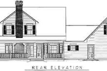House Plan Design - Country Exterior - Rear Elevation Plan #11-203