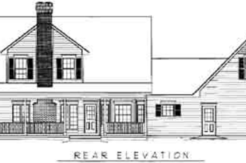 Country Exterior - Rear Elevation Plan #11-203 - Houseplans.com