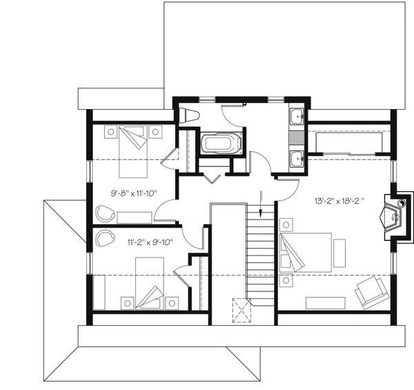 House Plan Design - Country Floor Plan - Upper Floor Plan #23-2669