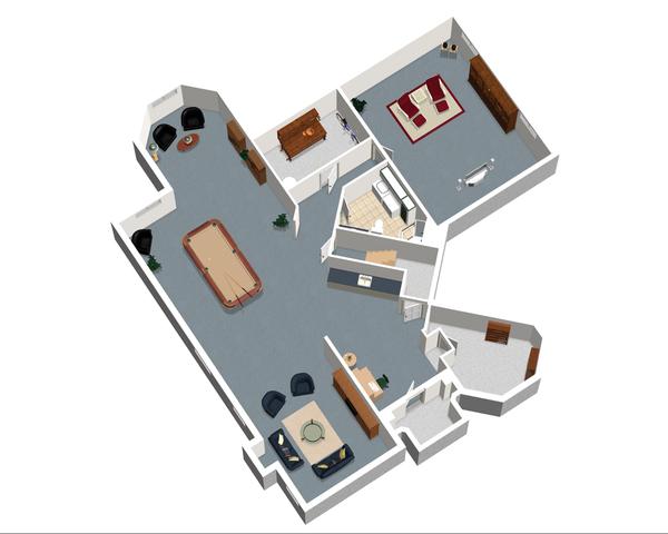 European Floor Plan - Lower Floor Plan Plan #25-4695