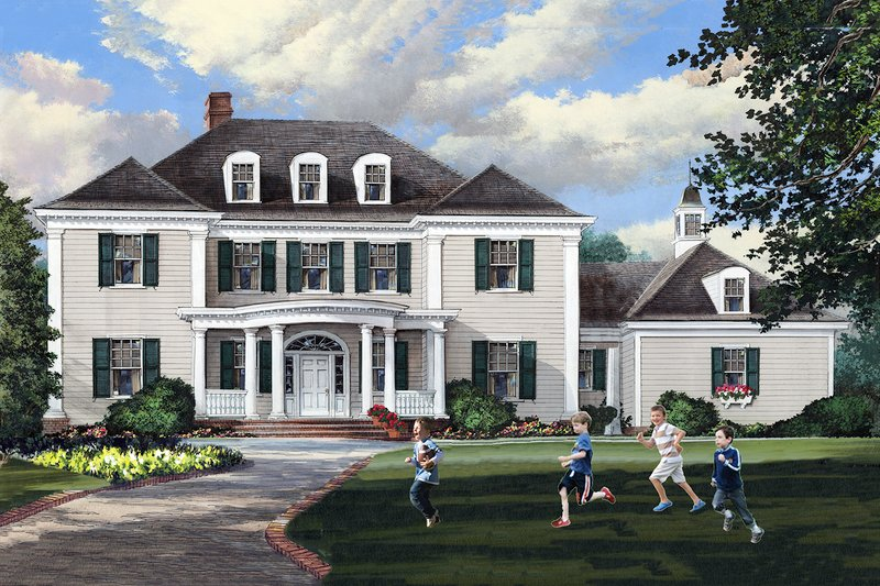 Dream House Plan - Traditional Exterior - Front Elevation Plan #137-292