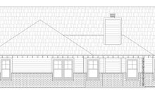 House Plan Design - Craftsman Exterior - Rear Elevation Plan #932-174