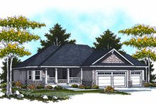 House Design - Traditional Exterior - Front Elevation Plan #70-863