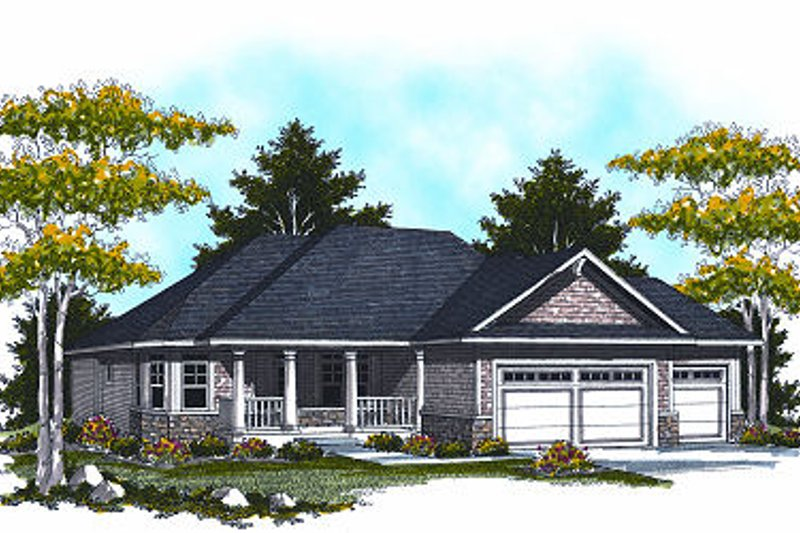 Architectural House Design - Traditional Exterior - Front Elevation Plan #70-863
