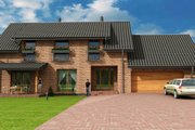 European Style House Plan - 3 Beds 2 Baths 2310 Sq/Ft Plan #538-16 Exterior - Front Elevation