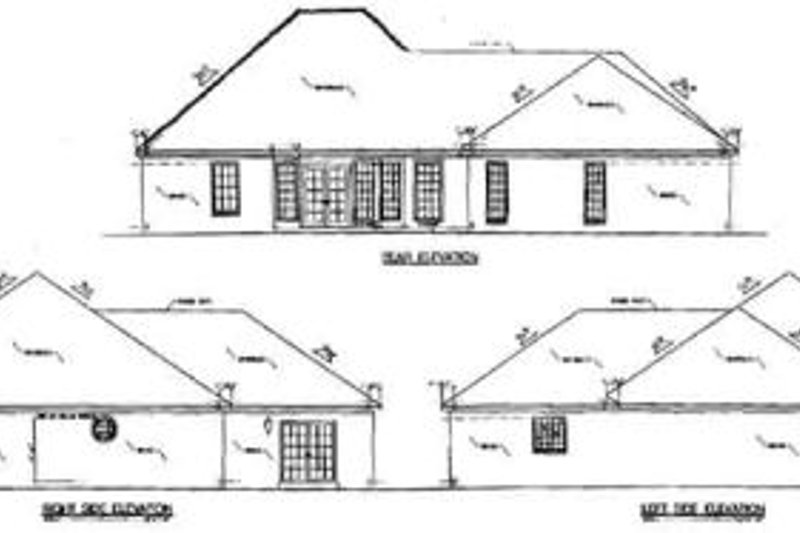 Southern Exterior - Rear Elevation Plan #36-155 - Houseplans.com