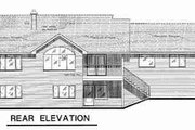 Ranch Style House Plan - 2 Beds 2.5 Baths 1233 Sq/Ft Plan #18-9202 Exterior - Rear Elevation