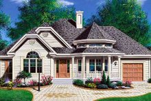 Home Plan Design - Traditional Exterior - Front Elevation Plan #23-137