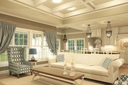 Ranch Style House Plan - 2 Beds 2 Baths 1826 Sq/Ft Plan #1010-207 Interior - Family Room
