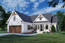 House Blueprint - Farmhouse Exterior - Front Elevation Plan #929-1107