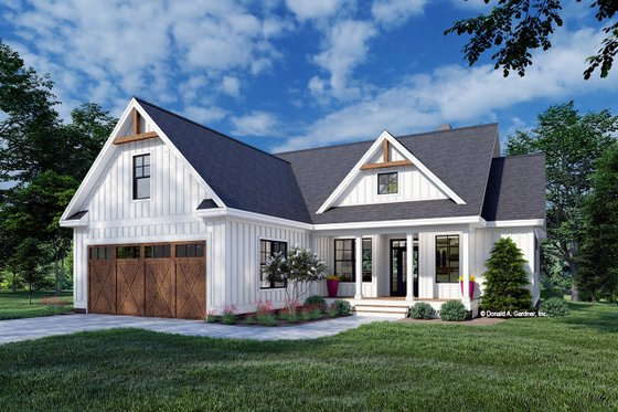 Farmhouse Exterior - Front Elevation Plan #929-1107