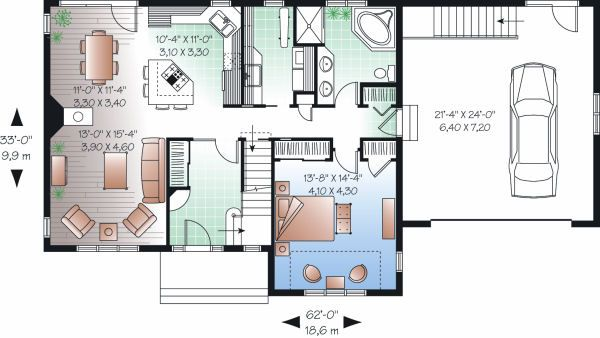 Country Floor Plan - Main Floor Plan Plan #23-726
