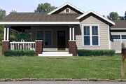 Craftsman Style House Plan - 3 Beds 2 Baths 1450 Sq/Ft Plan #461-1 Exterior - Front Elevation