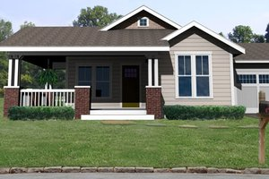 Craftsman Exterior - Front Elevation Plan #461-1