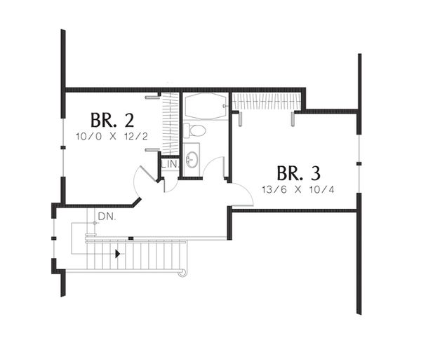 Cottage Floor Plan - Upper Floor Plan Plan #48-519