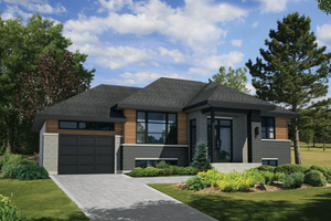 Contemporary Exterior - Front Elevation Plan #25-4465