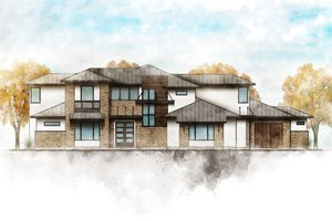Dream House Plan - Contemporary Exterior - Front Elevation Plan #80-217