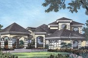 Mediterranean Style House Plan - 4 Beds 3 Baths 2887 Sq/Ft Plan #417-346 Exterior - Front Elevation
