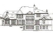 European Style House Plan - 4 Beds 4.5 Baths 4376 Sq/Ft Plan #54-111 Exterior - Rear Elevation