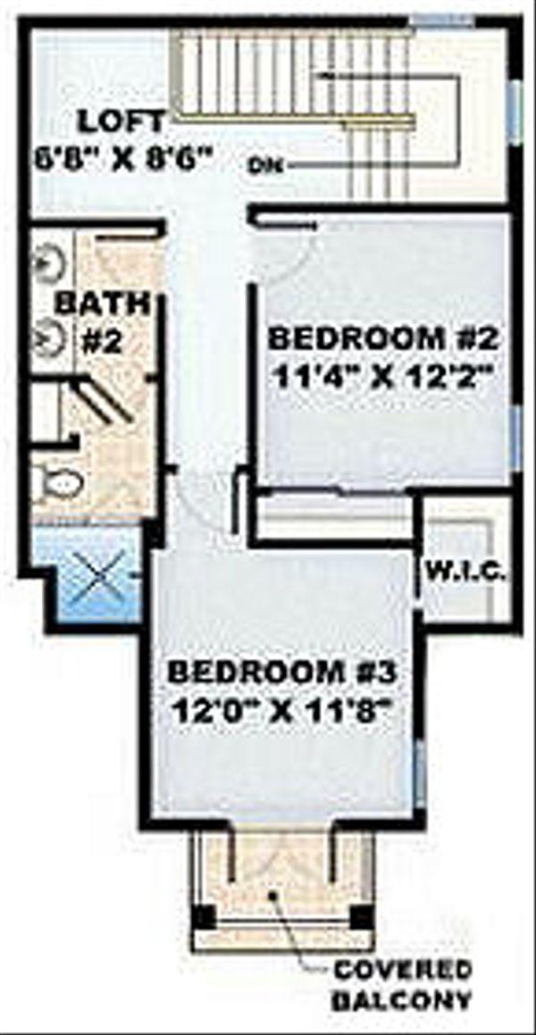 European Floor Plan - Upper Floor Plan Plan #27-350