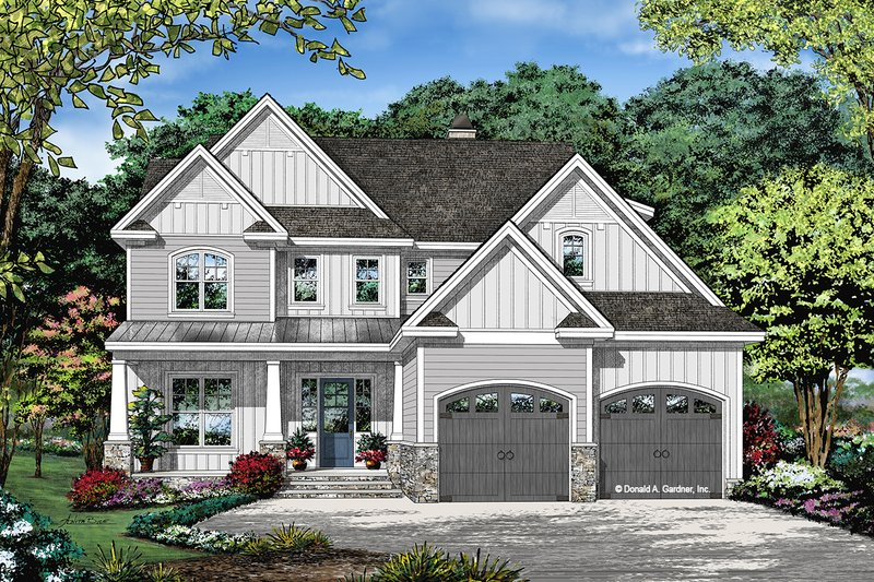 House Plan Design - Farmhouse Exterior - Front Elevation Plan #929-1122