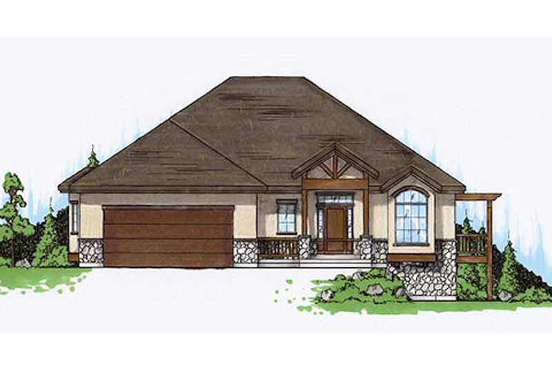 Dream House Plan - Traditional Exterior - Front Elevation Plan #5-471