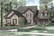Craftsman Style House Plan - 4 Beds 3.5 Baths 3430 Sq/Ft Plan #17-2384 Exterior - Front Elevation