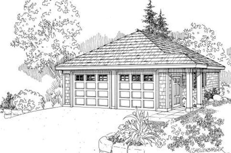 Architectural House Design - Craftsman Exterior - Front Elevation Plan #124-634