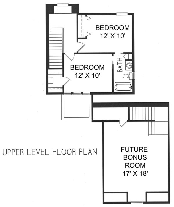 Mediterranean Floor Plan - Upper Floor Plan Plan #76-107