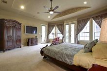 Home Plan - Mediterranean Interior - Master Bedroom Plan #80-124