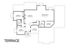 Craftsman Floor Plan - Lower Floor Plan Plan #920-104