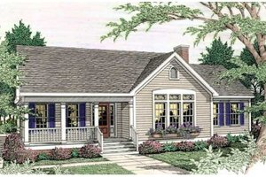 Country Exterior - Front Elevation Plan #406-248