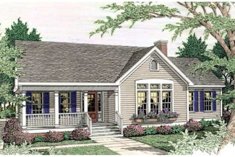 Country Exterior - Front Elevation Plan #406-248 - Houseplans.com