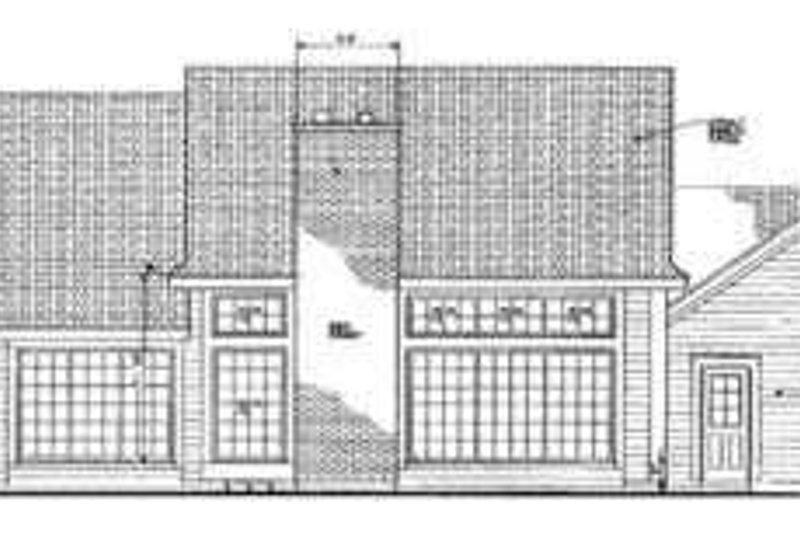 Traditional Exterior - Rear Elevation Plan #72-116 - Houseplans.com