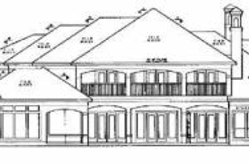 Mediterranean Exterior - Rear Elevation Plan #61-197 - Houseplans.com